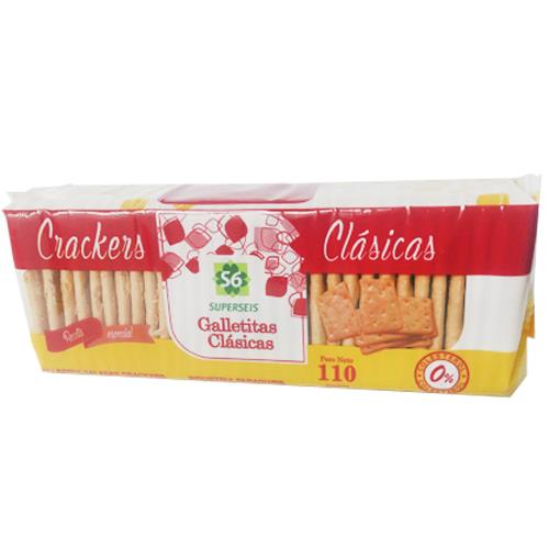 Foto GALLETITA CRACKERS CLASICA 110GR SUPERSEIS PAQUETE  de