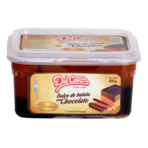 Foto DULCE DE BATATA CON CHOCOLATE PREMIUM 500GR DULCESAR PLAS de