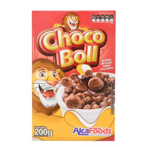 Foto CEREAL ALCAFOODS CHOCO BOLL SABOR CHOCOLATE 200GR CJA de