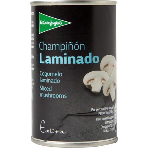 Foto CHAMPIÑON LAMINADO 150 GR EL CORTE INGLES LATA de