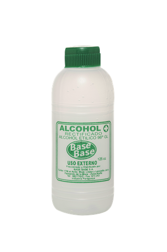 Foto ALCOHOL RECTIFICADO BASE BASE BOTELLA 125 CC de
