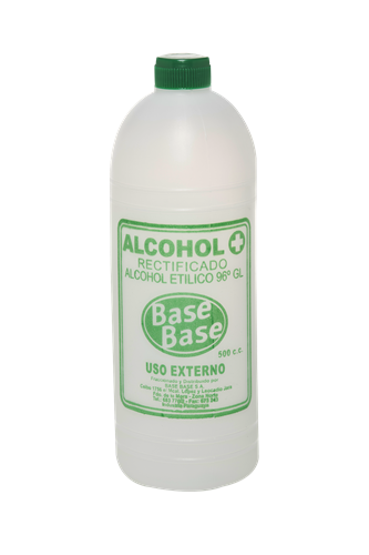 Foto ALCOHOL RECTIFICADO BASE BASE BOTELLA 500 CC de