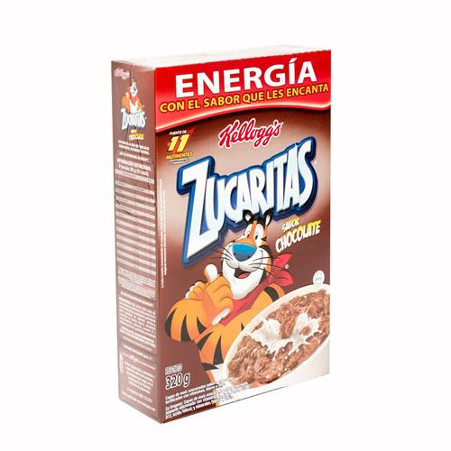 Foto CEREAL ZUCARITAS CHOCOLATE 320 GR KELLOGGS CAJA KELLOGGS X 1 de