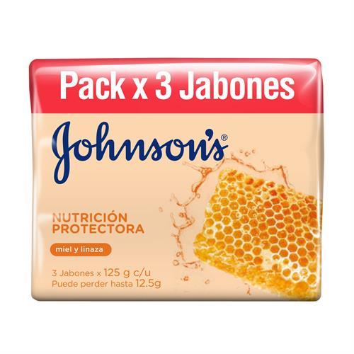 Foto JABON NUTR PROT JOHNSONS 3UN 125GR PACK de