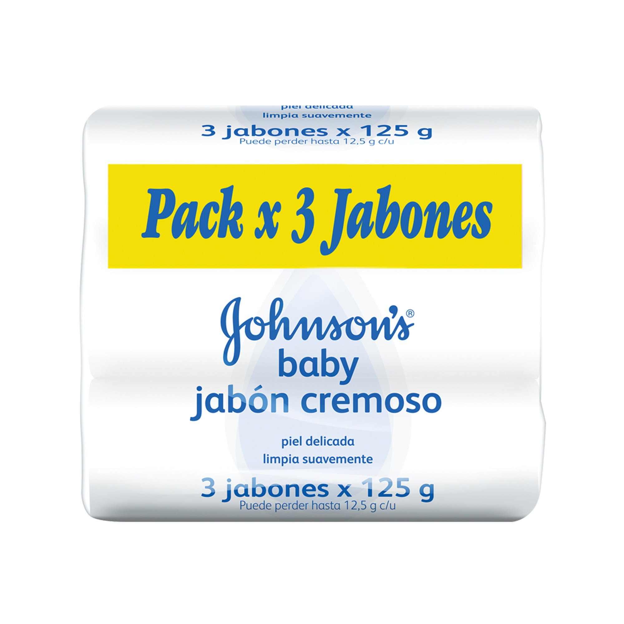 JABON D/TOC ORIG 3 X 125GR JOHNSONS BABY PACK