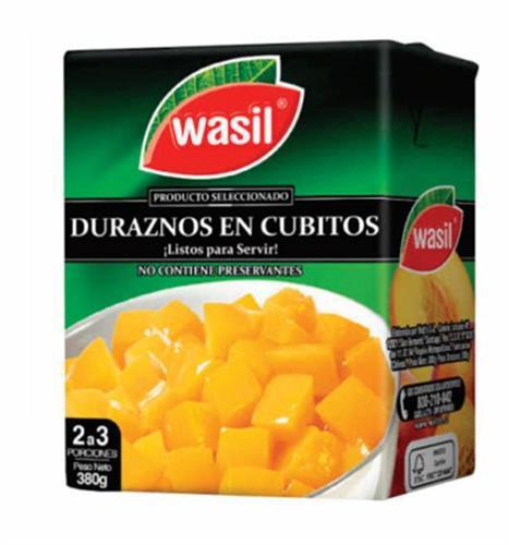 Foto DURAZNOS CUBITOS WASIL TETRA 16X380 GR   de
