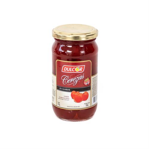 Foto CEREZAS EN ALMIBAR 250GR DULCOR FRASCO  frutas, dulce, merienda, desayuno  de