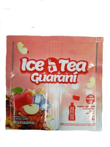 Foto BEBIDA EN POLVO LIGHT CON EXTRACTO DE TE VERDE SABOR MANZANA 9GR ICE TEA GUARANI SOBRE de