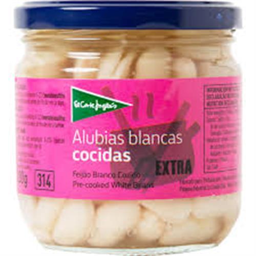 Foto ALUBIAS BLANCAS COCIDAS 290 GR EL CORTE INGLES LATA de