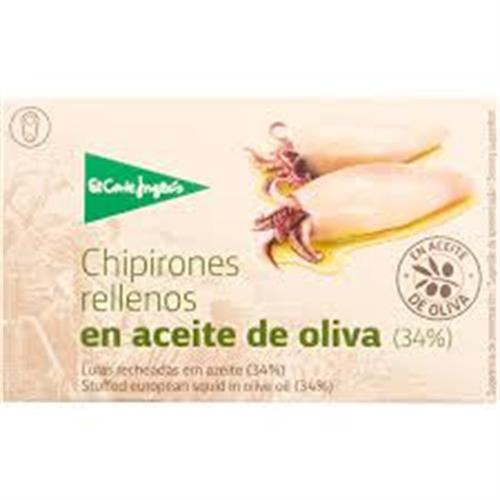 Foto CHIPIRONES RELLENOS EN ACEITE DE OLIVA LATA 111GR EL CORTE INGLES LATA de