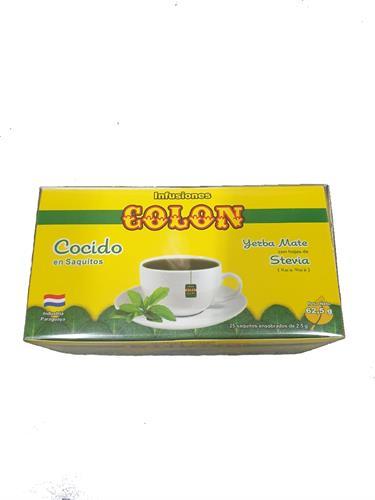 Foto MATE COCIDO CON STEVIA 62.5GR COLON CJA de