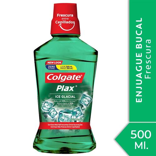 Foto ENJUAGUE BUCAL PLAX ICE GLACIAL COLGATE LLEVE 500ML PAGUE 350ML  de
