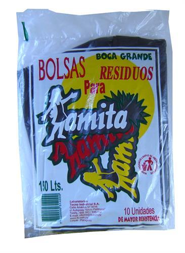 Foto BOLSA PARA RESIDUOS AMITA 150 LITROS 10 UNIDADES de