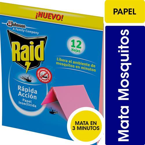 Foto PAPEL INSECTICIDA 12 UNIDADES RAID BSA de
