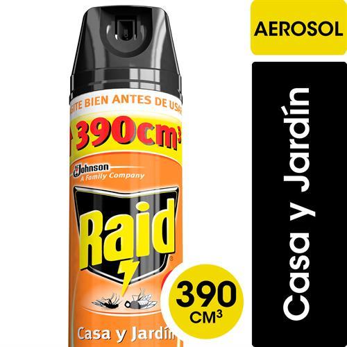 Foto INSECTICIDA CASA/JARDIN 390ML RAID AER de
