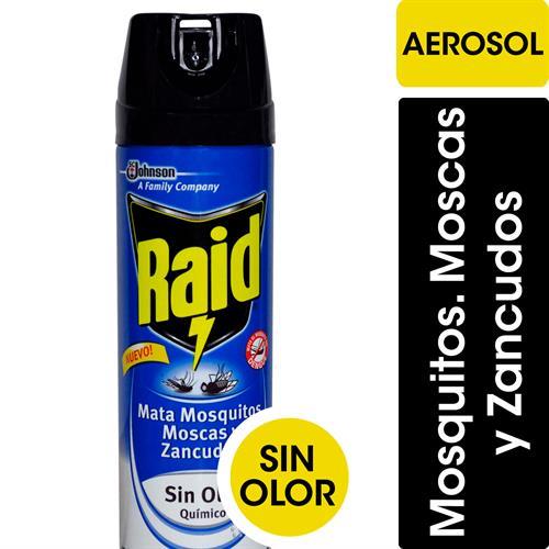 Foto INSECTICIDA SIN OLOR MATA MOSCA/MOSQUITO Y ZANCUDOS 360CM RAID AEROSOL de