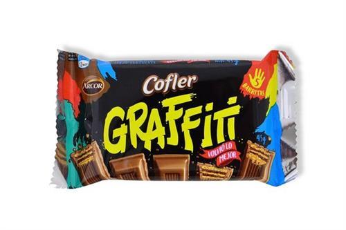 Foto CHOCOLATE TABL GRAFFITI 45GR COFLER PLAST de