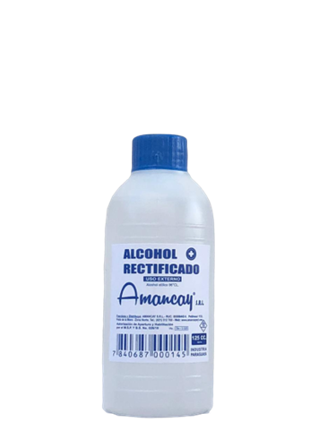 Foto ALCOHOL RECTIFICADO AMANCAY BOTELLA 125ML de