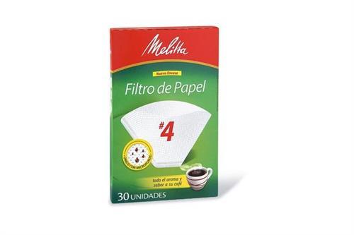 Foto FILTRO DE PAPEL P/CAFE NRO 4 30UN MELITA CJA de
