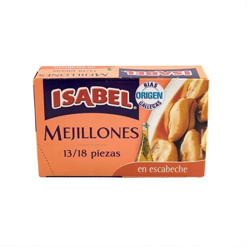 Foto MEJILLONES EN ESCABECHE 120GR ISABEL LAT de