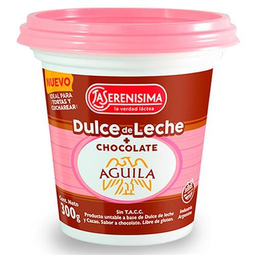 Foto DULCE DE LECHE C/CHOCOLATE LA SERENISIMA AGUILA 300GR POT de