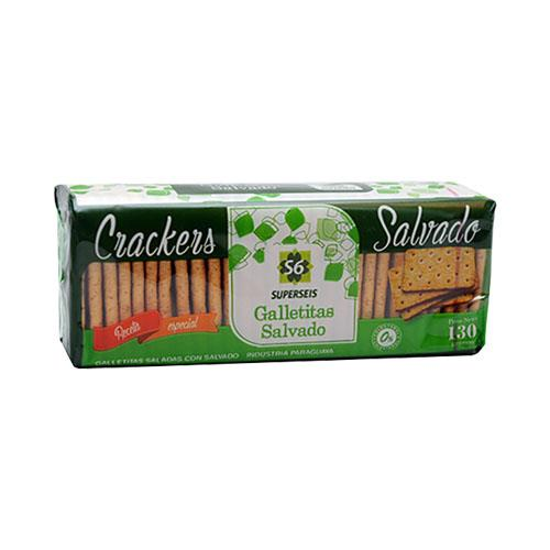 Foto GALLETITA CRACKERS CON SALVADO 130GR SUPERSEIS PAQUETE  de