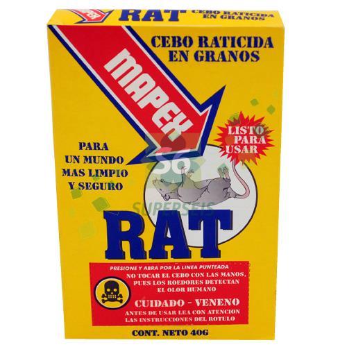 Foto CEBO RATICIDA EN GRANOS MAPEX RAT CAJA 1 UNIDAD de