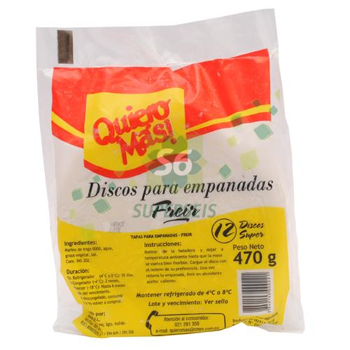 Foto DISCO PARA EMPANADA QUIERO MAS BI de