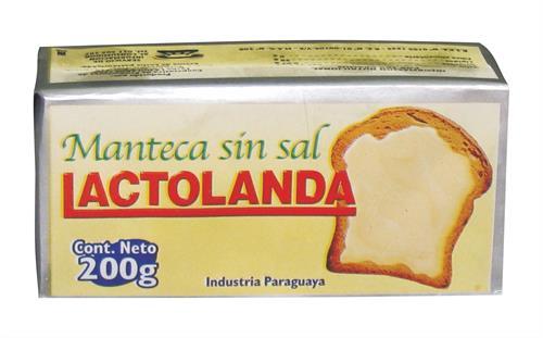 Foto MANTECA SIN SAL E/PAN 200GR LACTOLANDA de