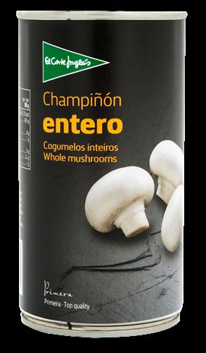 Foto CHAMPIÑON ENTERO 185GR EL CORTE INGLES LATA de