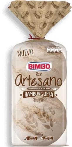 Foto PAN DE HAMBURGUESA ARTESANO BIMBO 4UNID. de