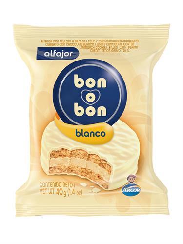 Foto ALFAJOR BON O BON BLANCO 40 GR de