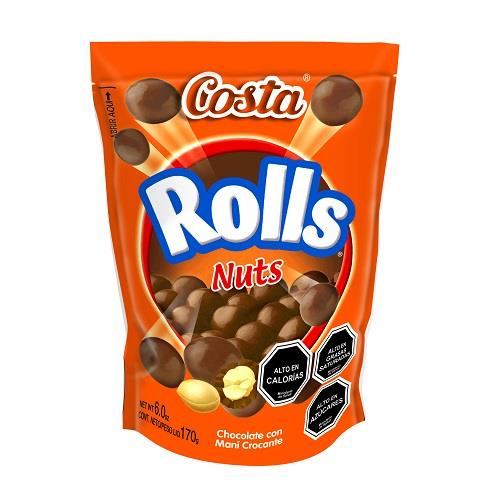 Foto CHOCOLATE BARRA COSTA ROLLS NUTS 170 GR de