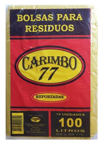 Foto BOLSAS DE RESIDUOS REFORZADAS 100LT X 10 UNIDADES CARIMBO 77 BSA de
