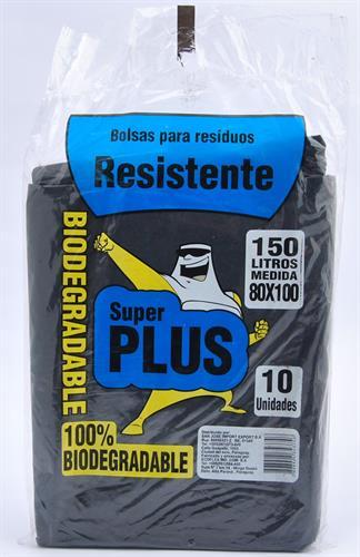 Foto BOLSA PARA RESIDUOS RESISTENTE 150LT 10 UNIDADES SUPER PLUS BSA de