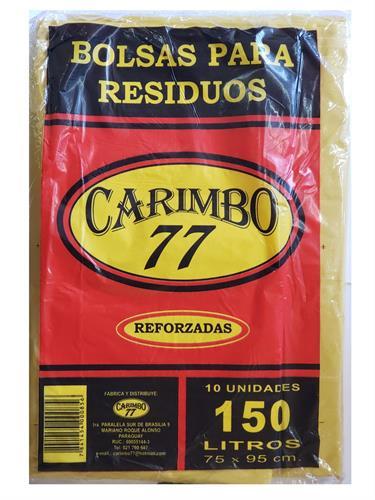 Foto BOLSAS PARA RESIDUOS REFORZADO 150LT X 10 UNIDADES CARIMBO 77 BSA de