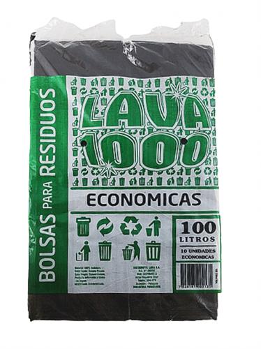 Foto BOLSA PARA RESIDUOS ECONOMICA 100LT X 10UN LAVA1000 PAQ de
