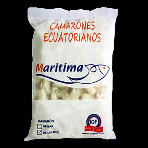 Foto COLA DE CAMARON CRUDA PELADA Y DESVENAD CALIBRE 51/60 X500GR MARITIMA BSA de