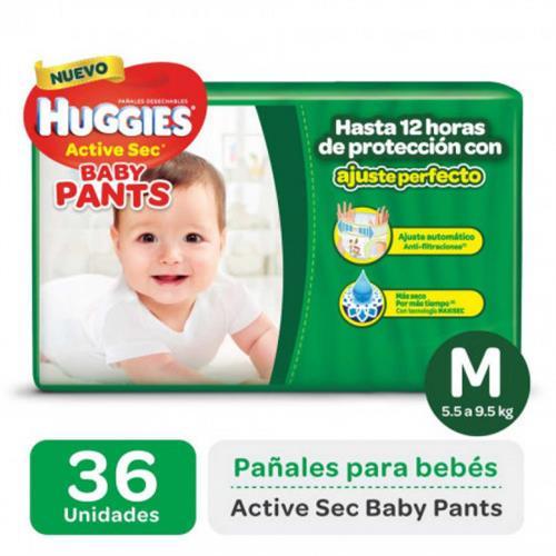 Foto PAÑAL DESECHABLE ACTIVE SEC BABY PANTS M 5.5 A 9,5KG HUGGIES 36UNID. de