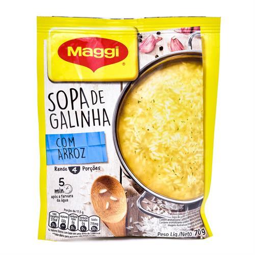 Foto SOPA D/GALLINA C/ARROZ DESHIDRATADA 70GR MAGGI de