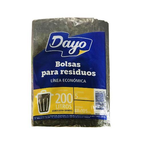 Foto BOLSAS P/RESIDUOS DAYO 200LT ECONOMICA 5UN PAQ de