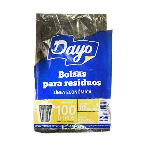 Foto BOLSA PARA RESIDUOS DAYO 100LTS ECONOMICA 10UNIDADES de