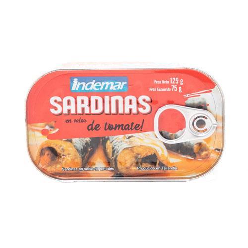 Foto SARDINAS EN SALSA D/TOMATE INDEMAR 125GR LAT de