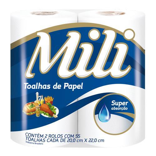 Foto TOALLA DE PAPEL P/COCINA 2x100HOJAS MILI PAQ. de