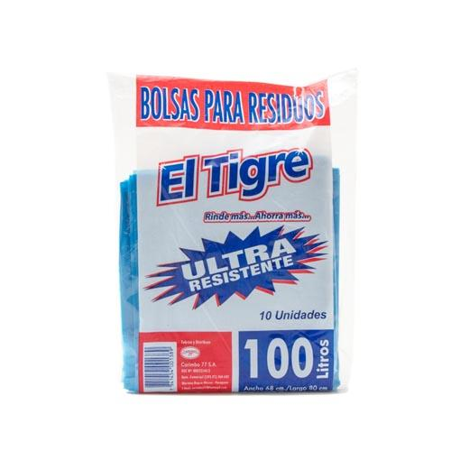Foto BOLSA DE RESIDUO ULTRARESISTENTE EL TIGRE 100L de
