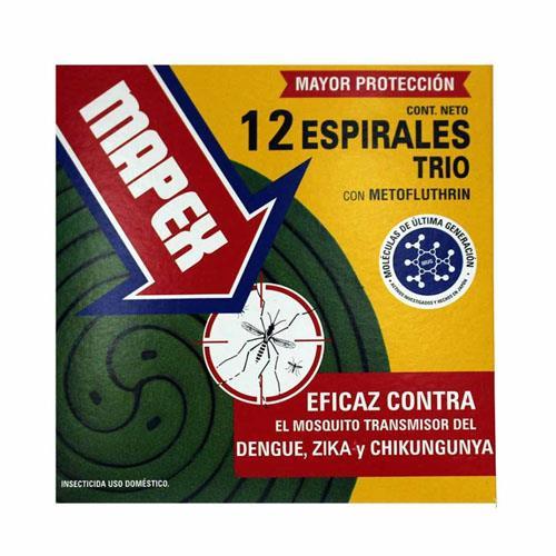 Foto ESPIRALES TRIO CON METOFLUTHRIN MAPEX 12Unidades de