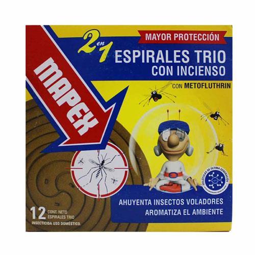 Foto ESPIRALES TRIO CON INCIENSO MAPEX 12Unidades de