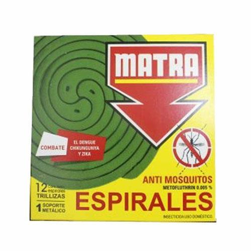 Foto ESPIRALES ANTI MOSQUITOS MATRA 12Unidades de