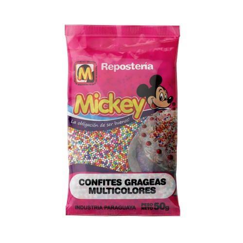 Foto CONFITES GRAGEAS MULTICOLORES MICKEY 50GR de