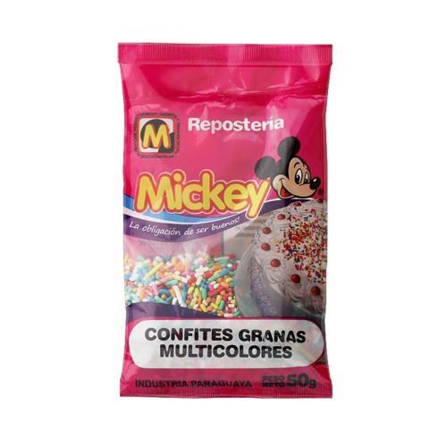 Foto CONFITES GRANAS MULTICOLORES MICKEY 50GR de